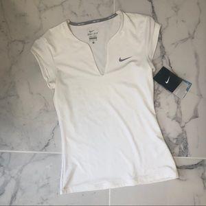 NWT small Nike Pure Tennis white athletic shirt